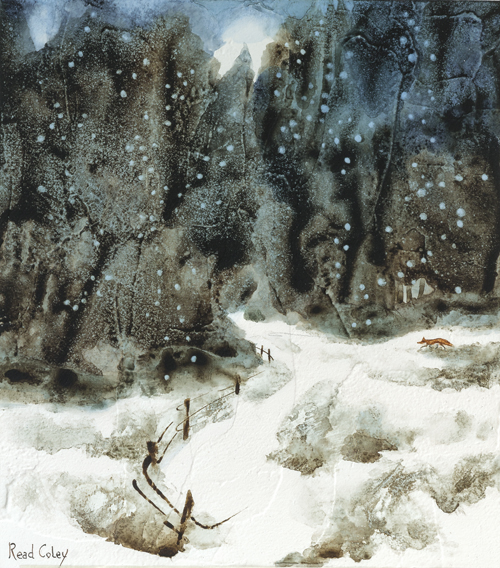 """Into the Wintry Wood"""
